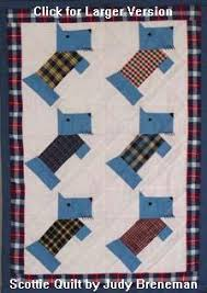 Dog Quilt Patterns Enchanting Doll Baby Scottie Dog Quilt Pattern From The Mid 48s