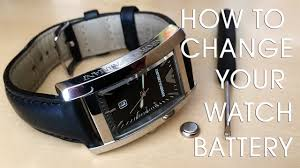 Relic Watch Battery Chart How To Change A Watch Battery