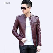 plus size 3xl motorcycle leather jacket men jackets 2018 spring short slim mens leather clothing outerwear