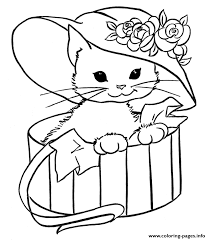 Small Picture For Girls Cats Kitten Coloring Pages Printable