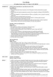 Air Technician Resume Samples Velvet Jobs