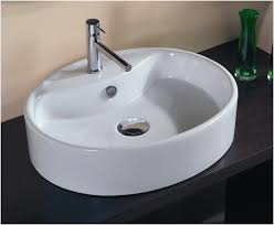 types of bathroom sinks kitchen sink type pros and cons oval white sink black table