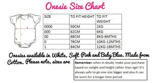 Size Chart For Baby Onesies My Daddy Shoots People Camera
