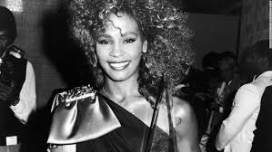 whitney black white. Houston Poses With An American Music Award In 1986. Whitney Black White