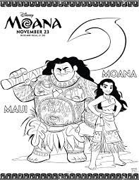 Moana Coloring Pages Free Printables From Disney Printables