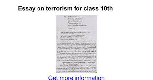 essay on terrorism for class th google docs