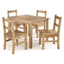 York 5 Piece Solid Wood Dining Set With 1 Table And 4 Chairs In