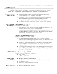 Sample Resume For Assistant Manager Training