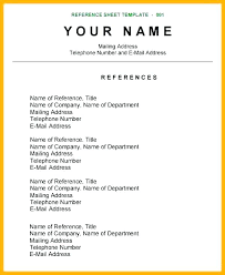 Reference Page For Resume Wonderful 2011 Reference Page For Resume Sample Resume In One Page Sample One Page