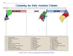 New England Middle And Southern Colonies Comparison Chart 13 Colonies Comparison Chart Teaching Social Studies