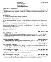 College Student Resume Outline Resume Sample