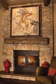 refined rustic mantle