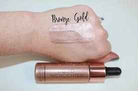 makeup revolution liquid highlighter drops bronze rose gold