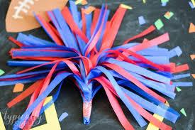 tissue paper crafts cheerleader pom