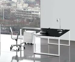 italian office desk. Italian Glass Office Desks Loop Laminate Black Desk With Return Furniture Manufacturers