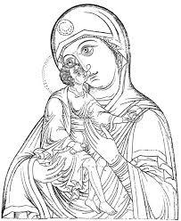 Disegno Da Colorare Madonna Con Bambino Grandi Dimensioni Disegni