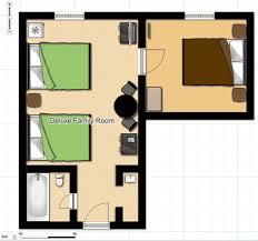 Luxury Family Hotel Rooms New York  Langham Place New YorkFamily Room Floor Plan