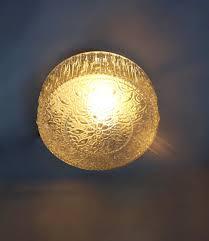 Vintage Mid Century Light Fixtures Vintage Round Floral Ceiling Light Retro Clear Glass Flush