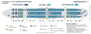 Air France Airlines Boeing 777 300 Aircraft Seating Chart