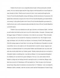 the life and impact of vladimir lenin essay research paper zoom