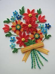 Paper Quilling Flower Bokeh Floral Bouquet Quilling Patterns Quilling Designs Paper