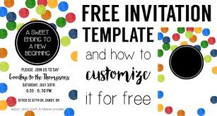 Party Invitation Images Free Colorful Party Invitation Free Template Paper Trail Design