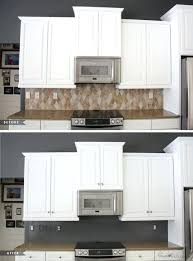 painted kitchen cabinets ideas before and after paint tile for an big inexpensive change