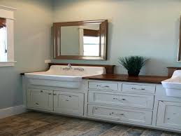Double Vanity Bathroom Interior Farmhouse Bathroom Vanities Double