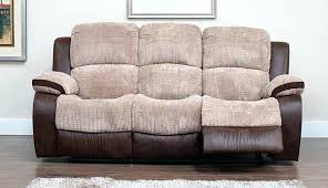real leather 3 seater recliner sofa cream singapore reclining fabric settee large