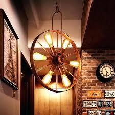 rustic wagon wheel chandelier decoration homemade chandelierirrors iron hanging lant