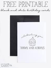 Black And White Birthday Cards Printable Black And White Printable Birthday Cards Print Pretty Cards
