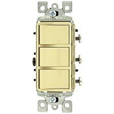 leviton 1755 t 15 amp 120 volt decora single pole ac leviton 1755 i 15 amp 120 volt decora single pole ac combination switch commercial grade non grounded ivory