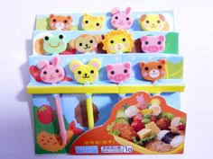 Bento Box Decorations Japanese Bento Deco Ham Cheese Cutter Set 100 shapes Bento 92