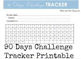 90 Day Calendar Template 90 Days Goals Challenge With Printable Getting Things Done