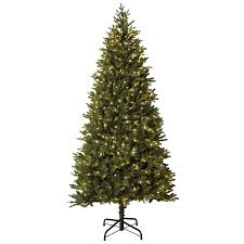 Holiday Living 7.5-ft Pre-lit MontaSpruce Slim Artificial Christmas Tree  with 800 Constant