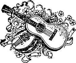 B W Guitar Instrument Free Vector Graphic On Pixabay