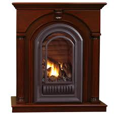 HearthSense Natural Gas Ventless Gas Fireplace  20000 BTU Ventless Natural Gas Fireplace