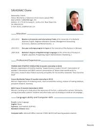 Resume English Fluent Resume For Study