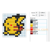 Small Perler Bead Patterns Enchanting Pokemon Pikachu Small Size Free Perler Beads Hama Beads Pattern