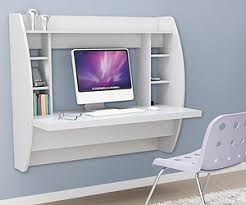 homcom floating wall mount office computer desk. White Floating Desk With Storage. This Office Furniture Is A Space Saving Solution For Any Home. Each Home Easy To Mount And Features Homcom Wall Computer D