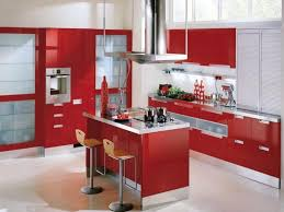 White And Red Kitchen Simple Red Kitchen Walls Cyoury Cabinets And Luxur 1222x899