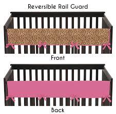Sweet Jojo Designs Cheetah Girl Collection Cheetah Girl Long Crib Rail Guard Cover