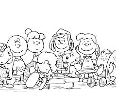 Peanuts Characters Christmas Coloring Pages 2554964