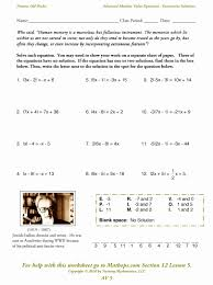 1 4 practice solving absolute value equations awesome solving absolute value equations and inequalities worksheet free