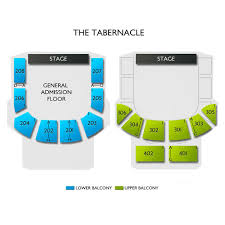 The Tabernacle 2019 Seating Chart