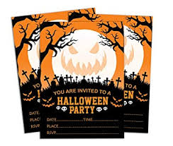 Halloween Invitations Cards Amazon Com Darling Souvenir Orange Halloween Invitation