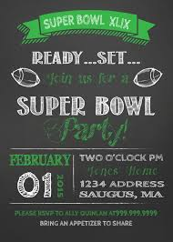 Super Bowl Invitation Images Party On Super Ball Football Flyer ...