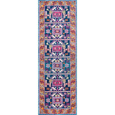 nuloom tribal marisela navy 3 ft x 8 ft runner rug