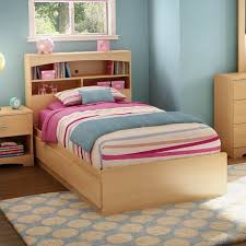 South Shore Shiloh Kids Twin Bookcase Storage Bed Set in Natural ...