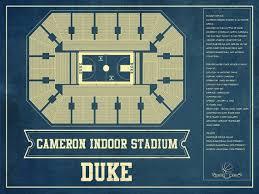 Wakemed Stadium Seating Chart Duke Blue Devils Cameron Indoor Stadium Seating Chart College Basketball Blueprint Art